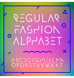 Fashion alphabet letters collection vector image