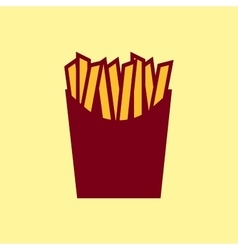 Fast food icon french fries pictogram vector