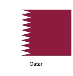 Flag of the country qatar vector image