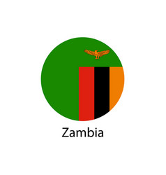 flag of zambia in the form vector image