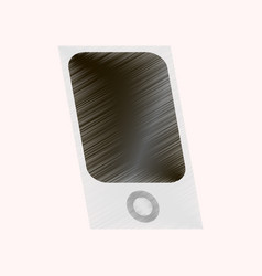flat shading style icon music player vector image