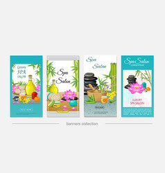 flat spa salon vertical banners vector image
