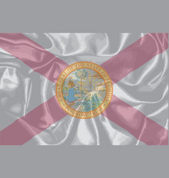 Florida state silk flag vector
