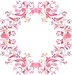 Foliate border with roses blossom vector image