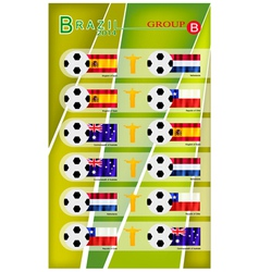 Football Tournament of Brazil 2014 Group B vector image