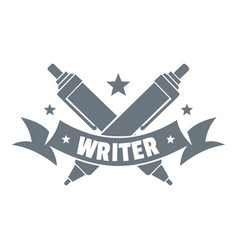 fountain pen logo vintage style vector image