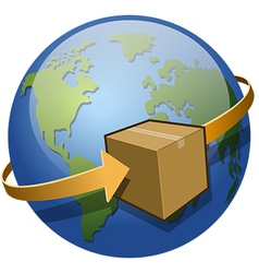 Global Shipping vector image