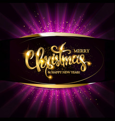 gold christmas and new year banner vector image