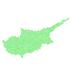 green hexagon cyprus countries map vector image