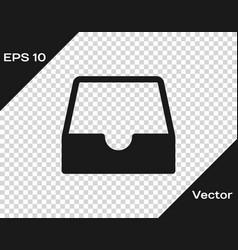 Grey social media inbox icon isolated vector