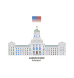 Indiana state house vector