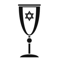 Jewish silver cup icon simple style vector