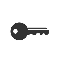key icon in flat style access login on white vector image