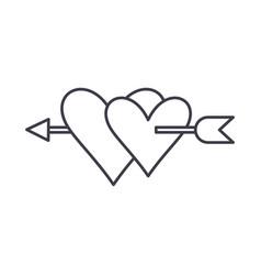 love symbol line icon concept love symbol vector image