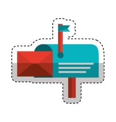 mailbox postal isolated icon vector image