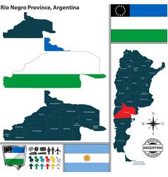 Map of rio negro province argentina vector