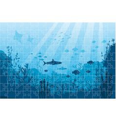 marine underwater life puzzle vector image