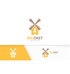 mill and rocket logo combination farm and vector image