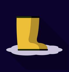 Pair of rubber rain boots symbol of autumn vector