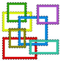 Postage stamps frames vector
