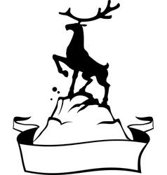 Reindeer banner vector