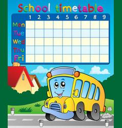 School timetable composition 9 vector