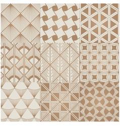 Seamless geometric gold pattern vector
