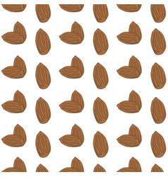 Seamless pattern almond eps 10 vector