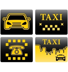 Set icons for taxi vector