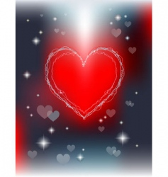 shiny valentines day greeting card vector image