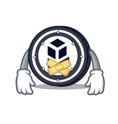 Silent bancor coin mascot cartoon vector
