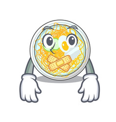 silent naengmyeon in a shape cartoon vector image