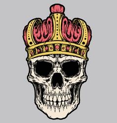 skull king crown vector image