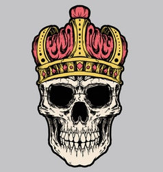 Skull king crown vector vector