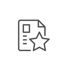 special document line icon vector image
