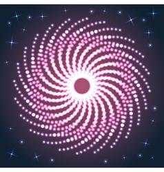Spiral firework vector