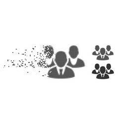 Staff dispersed pixel halftone icon vector