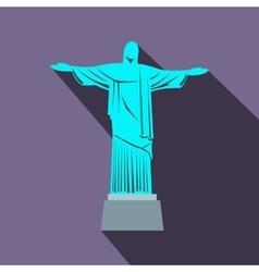 Statue of Jesus Christ Rio de Janeiro icon vector image