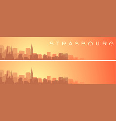 Strasbourg beautiful skyline scenery banner vector