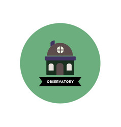 Stylish icon in color circle building observatory vector