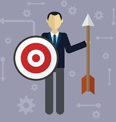 Target businessman strategy concept flat modern vector