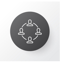 teamwork and meeting icon symbol premium quality vector image
