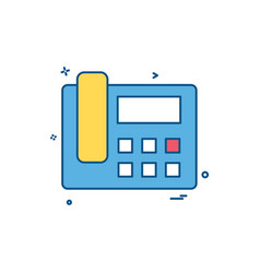 Telephone sound voice icon design vector
