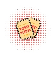Ticket comics icon vector image