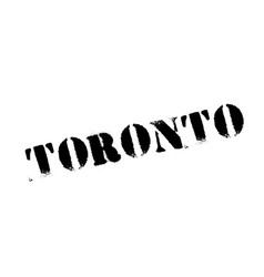 toronto rubber stamp vector image