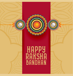 Traditional raksha bandhan hindu festival greeting vector
