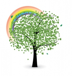 tree with rainbow vector image