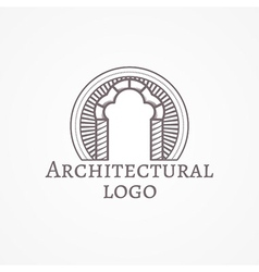 trefoil arch icon with text vector image