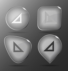Triangle ruler Glass buttons vector
