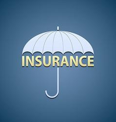 Umbrella and word insurance vector